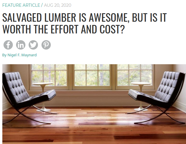 Salvaged Lumber is Awesome, But Is It Worth the Effort and Cost - SCREENSHOT